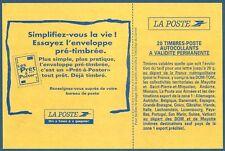 Carnet DAB 20 timbres Briat TVP rouge autoadhésif N°2874-C9 neuf**