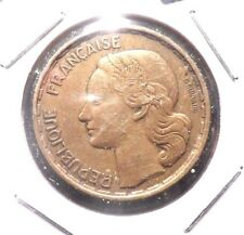 CIRCULATED 1952 50 FRANC FRENCH COIN.