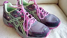 Asics GEL Venture 5 Running Athletic Shoes size 10 US 42 Gray Green Pink EUC