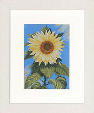 Sunflower on Blue - Lanarte Counted Cross Stitch Kit w/27 Ct. Evenweave