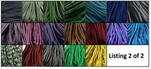 ***SALE*** Paracord 550, 7 strands - 25, 50 & 100 ft; 111 COLOURS listing 2 of 2