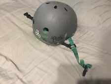 Triple Eight Used Brain Saver Grey Carbon Rubber Size Large Skate Helmet