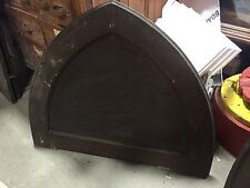 "c1880 antique GOTHIC over door arched pediment PINE 39.5 w X 32"" H old stain"