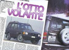SP83 Clipping-Ritaglio 1992 Land Rover Discovery V8i rapide L'otto volante