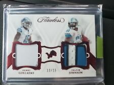 🚨❗2020 Panini Flawless Calvin Johnson Kenny Golladay 4 Color Dual Patch #'d /15