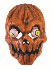 Pumpkin Head Evil Clown Face Mask