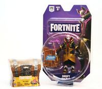 """Fortnite - DRIFT Solo Mode 4"""" Figure w/ weapon & material + Loot Chest!! - NEW"""