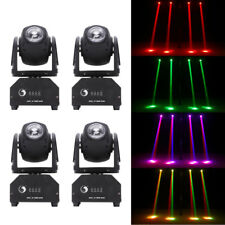 4PCS 60W RGBW LED Stage Lighting Beam Moving Head DMX512 DJ Disco Party Lights