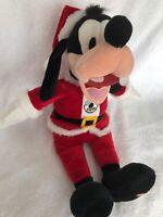 "Hallmark Disney Plush Totally Ticklish Goofy Santa Animated 17"" Plush Christmas"