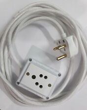 1 Sockets Power Extension(5 Mtrs.ClothCord,Anchor&Click Brand Access) FreeTester