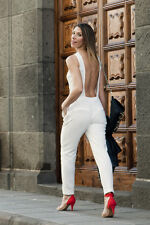 SOLD OUT RARE ZARA BACKLESS WHITE LONG JUMPSUIT BLOGGERS SIZE M MEDIUM