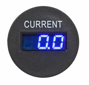 Miniature round digital ammeter 12v or 24v,  0-20Amp, integral shunt      161716