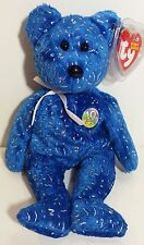 "TY Beanie Babies ""DECADE (blue)"" 10th Anniversary Teddy Bear - MWMTs! MUST HAVE!"