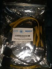 4 Pin Molex to 6 Pin PCI Express Power Connector Adapter Cable Lot of 4