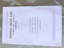 A2e ephemera advert undated thomas niven limited sawmills carlisle