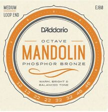 5 sets D'Addario EJ80  Phosphor Bronze Octave Mandolin Strings Medium 12-46 J80