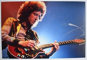 Brian May Signed Autograph 6x4 photo Music Queen Guitar AFTAL COA