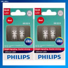 4x Philips Genuine NEW Ultinon 194RULRX2 194 RED LED Bulb T10 158 168 12961