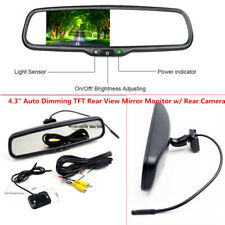 "4.3""Auto Dimming TFT LCD Rearview Mirror Monitor Rear Camera Night Vision Safely"