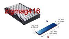"1-1/4"" x 1/4"" x 1/16"" thick, N52, Rare Earth,Neodymium Block Magnet Epoxy Coated"