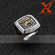 Silver Gold Tone Shriner Masonic Heavy Duty Thick Band New Shriner Men's Ring