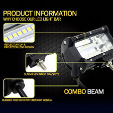 72W  5'' Inch LED Work Light Bar Flood Driving Lamp For Boat Offroad Jeep Truck