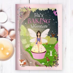 PERSONALISED GIRLS BAKING GIFT STORY AND RECIPE BOOK Baking Present for Children