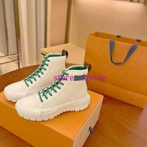 5cm canvas +leather high top lace up casual shoes boots fashion women 2021 35-40