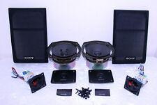 Pair Sony SS-EX3AV Speakers Parts Only ~ Woofers ~ Tweeters ~ X-Overs ~ Grills