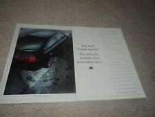 Audi Coupe Quattro  -  Advettisement  - 1989