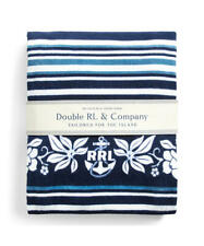 "RRL Ralph Lauren ""Indigo Striped Beach Towel"" Navy 100% Cotton"