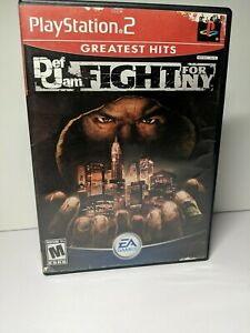 Def jam fight for ny ps2 NO GAME (just the case) READ