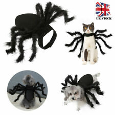 Halloween Pet Black Spider Costume Dog Cat Puppy Spider Cosplay Clothes Outfit L