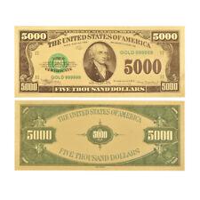 WR 1981 $5000 US Five Thousand Dollars Banknote 24K Gold Foil Novelty Money Gift