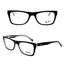 2d5b3da37c Ray Ban RB 5289 2034 Black on clear 48 17 135 small Eyeglasses Rx