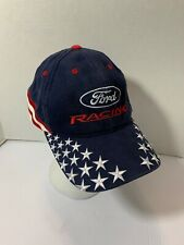 Official Checkered Flag Sports Ford Racing American Flag Hat Cap Strap Back