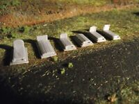 Pierres tombales x6 - échelle N