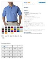 ss GILDAN-3800-Mens-Size-S-5XL-100-COTTON-Pique-Knit-Polo-Sport-Shirt
