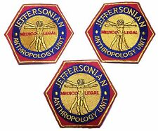 Bones TV Series Jeffersonian Anthropology  Embroidered Iron On Patch Set of 3