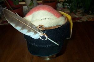 BLACK POWDER, RENDEZVOUS, TRADE BLANKET WOOL, MOUNTAIN MAN STYLE CAP