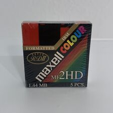 More details for maxell red colour mf 2hd 1.44 mb floppy disk 5pc  high density