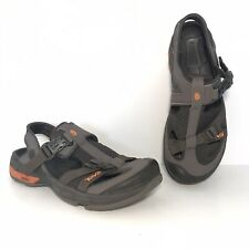 Teva Itunda Sandals Size 10.5 Closed Toe Hiking Water Shoes Spider Rubber Brown