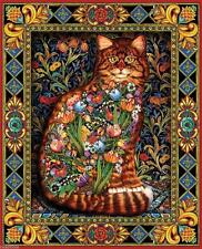 WHITE MOUNTAIN JIGSAW PUZZLE TAPESTRY CAT LEWIS T JOHNSON 1000 PCS #402