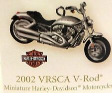 "HALLMARK ""2002 VRSCA V-ROD"" MINIATURE HARLEY-DAVIDSON MOTORCYCLE ORNAMENT"