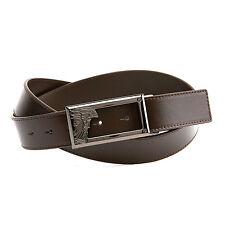 GIANNI VERSACE COLLECTION VERSUS Medusa Open Buckle Leather Belt SIZE 85
