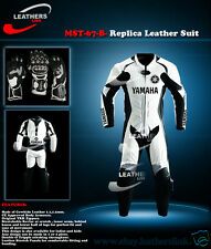Men Motorcycle Motorbike Racing Biker Leather Suit MST-67(Matching Glove)(US 46)