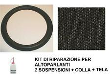 KIT DI RIPARAZIONE FOAM SOSPENSIONE ALTOPARLANTE 16 cm + COLLA + TELINA NERA