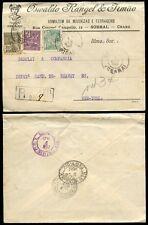 BRAZIL 1922 ADVERTISING ENVELOPE OSWALDO RANGEL..MERCURY CAMEO..REGISTERED to NY