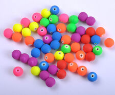 FREE SHIP 50PCS mix Fluorescent Acrylic Round Charm Spacer Beads 10mm