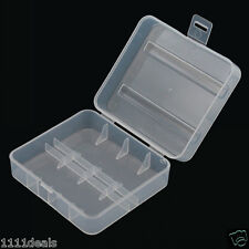 White Clear Plastic Battery Case Holder for 26650 Battery x 1